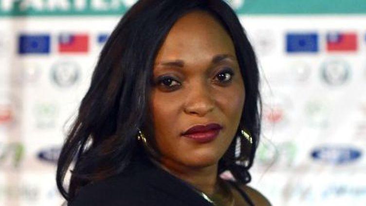 La comédienne Véronique Beya Mputu à la projection du film «Félicité» durant le Fespaco à Ouagadougou le 1er mars 2017. (ISSOUF SANOGO / AFP)