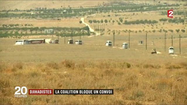 Djihadistes : la coalition bloque un convoi