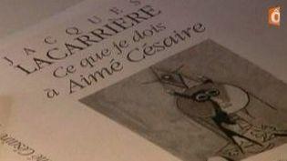 """Jacques Lacarrière, """"Ce que je dois à Aimé Césaire,""""  (Culturebox)"""