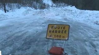route barree neige (FRANCE 2)
