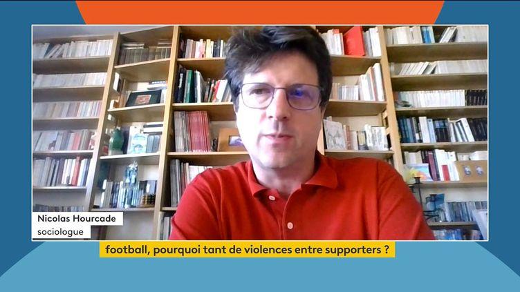 Nicolas Hourcade, sociologue et spécialiste du supportérisme, le 23 septembre 2021 sur la chaîne franceinfo. (FRANCEINFO)