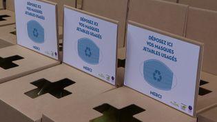 A Limoges, 200 boites ont été installées dans la villes pour récupérer les masques usagés (France Télévisions)