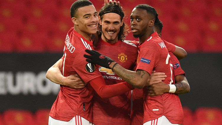 Cavani a ouvert le score pour Manchester United face à Grenade.  (OLI SCARFF / AFP)