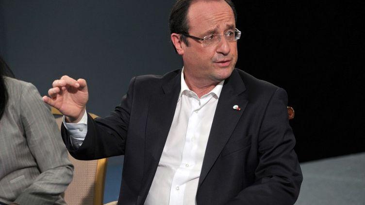 François Hollande lors d'une rencontre avec le président russe,VladimirPoutine, le 17 juin 2013 au sommet du G8, en Irlande du Nord. (ALEKSEY NIKOLSKYI / RIA NOVOSTI)