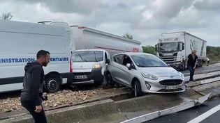Gard : les automobilistes de retour sur l'A9, marquée par les intempéries (France 2)