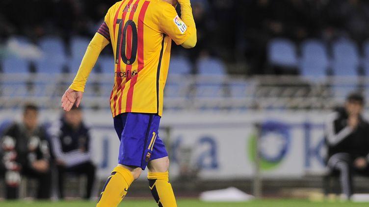 Le joueur du Barca, Lionel Messi (ANDER GILLENEA / AFP)