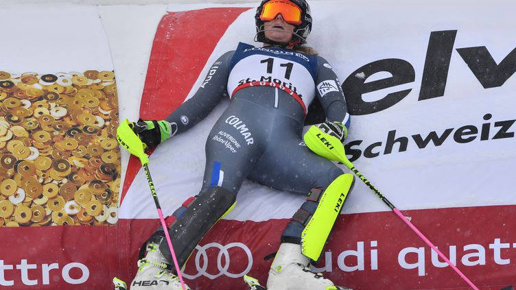 La skieuse française Anne-Sophie Barthet (DIMITAR DILKOFF / AFP)