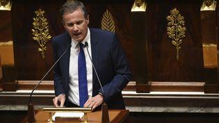 Nicolas Dupont-Aignan, président de Debout la France et député de l'Essonne, à l'Assemblée nationale, le 15 juillet 2020. (MARTIN BUREAU / AFP)
