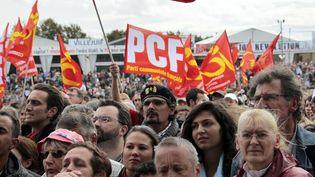 Lors de la Fête de l'Huma, en septembre 2011, à La Courneuve (Seine-Saint-Denis). (JACQUES DEMARTHON / AFP)