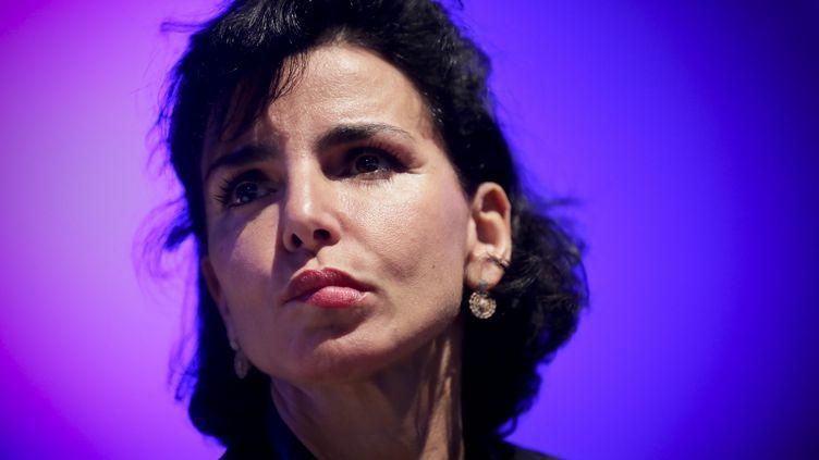 Rachida Dati, lors d'un meeting de l'UMP à Paris, le 21 mai 2014. (MAXPPP)