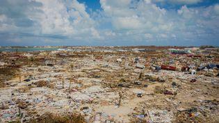 Après le passage de l'ouragan Dorian, l'île de Grand Bahama (Bahamas) est dévastée, le 10 septembre 2019. (ALEJANDRO GRANADILLO / ANADOLU AGENCY / AFP)