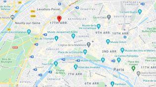 Place du Maréchal Juin, Paris 17e arrondissement. (CAPTURE ECRAN GOOGLE MAPS)
