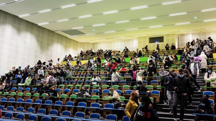 Un amphithéâtre de l'université Jean Jaurès à Toulouse (Garonne) le 14 octobre 2020. (LILIAN CAZABET / HANS LUCAS / AFP)