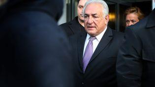 L'ancien directeur général du FMI, Dominique Strauss-Kahn, à la sortie du tribunal de Lille, le 18 février 2015. (MAXPPP)