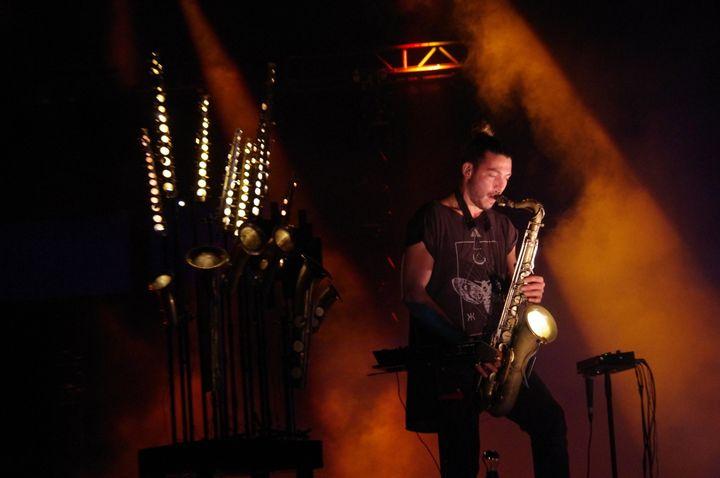 Guillaume Perret a livré un show sons et lumières incroyable.  (Adrien Pittore)