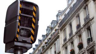 Un radar fixe de contrôle de la vitesse dans le 9e arrondissement de Paris, le 14 mai 2007. (JOEL SAGET / AFP)