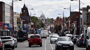 La rue Soho dans le quartier de Handsworth, à Birmingham (Royaume-Uni), le 22 août 2020. (JUSTIN TALLIS / AFP)