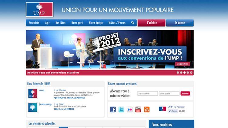Capture d'écran du site de l'UMP u-m-p.org (DR)