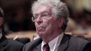 L'avocat au barreau de Paris et ancien ministre Pierre Joxe, lors de l'assemblée générale du Conseilnational des barreaux (CNB), le 5 octobre 2012 à Paris. (JACQUES DEMARTHON / AFP)
