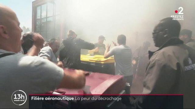 Aéronautique : la colère des employés de Derichebourg à Toulouse