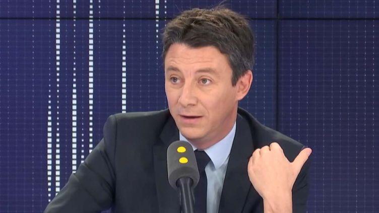 Benjmain Griveaux était l'invité de franceinfo lundi 3 février. (FRANCEINFO / RADIOFRANCE)
