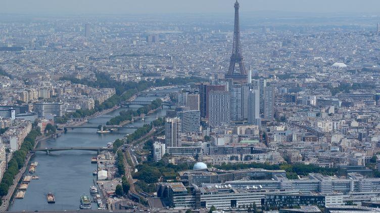 La ville de Paris vue du ciel. (YURIKO NAKAO / GETTY IMAGES EUROPE)