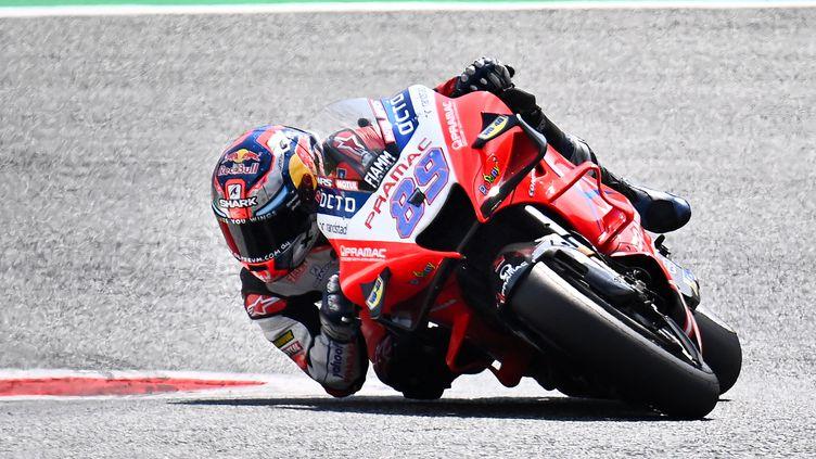 Jorge Martin lors des qualifications du Grand Prix d'Autriche de MotoGP. (JOE KLAMAR / AFP)