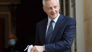 Bruno Le Maire, le ministre de l'Economie et des Finances, à l'hôtel Matignon (Paris), le 1er septembre 2021. (THOMAS COEX / AFP)