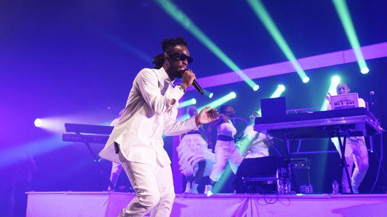 Le rappeur Youssoupha en concert a l'Olympia, à Paris, le 30 janvier 2020. (SADAKA EDMOND/SIPA)