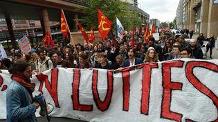 Manifestation pour la defense du service public et contre la reforme du code du travail, le 10 octobre 2017 à Lille. (MAXPPP)