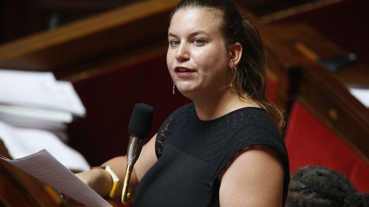 Mathilde Panot à l'Assemblée nationale en juillet 2019. (S?BASTIEN MUYLAERT / MAXPPP)