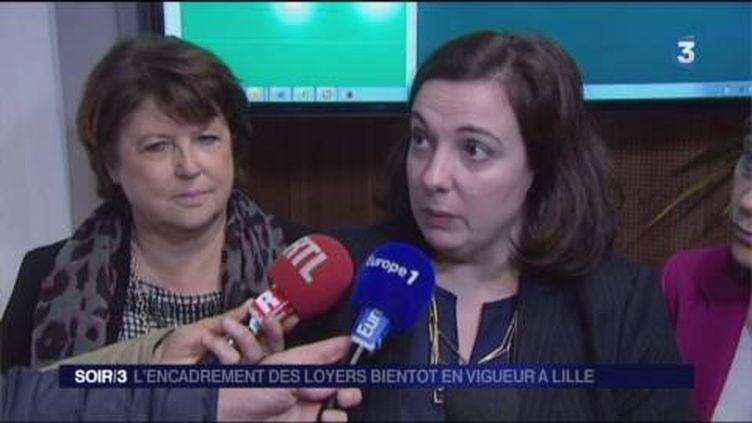 Emmanuelle Cosse, ministre du Logement, et Martine Aubry, maire de Lille. (FRANCE 3)