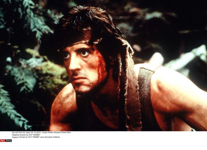 "Sylvester Stallone sur le tournage de ""Rambo"". (NANA PRODUCTIONS/SIPA / SIPA)"