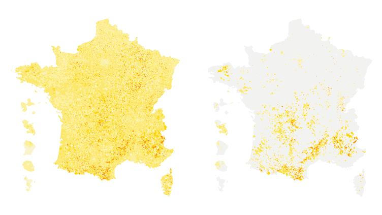 CARTE. Présidentielle : le vote blanc dans les communes mélanchonistes (FRANCEINFO)