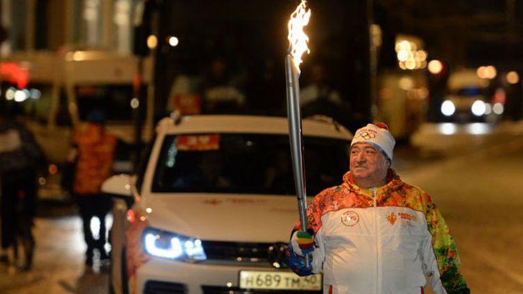 Shavarsh Karapetyan, détenteur à dix reprises du record du monde de nage avec palmes, a été témoin de l'extinction de la flamme