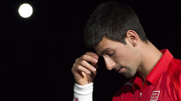 Novak Djokovic bras levés à Shanghai