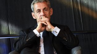 L'ancien chef de l'Etat Nicolas Sarkozy, le 22 septembre 2021, à Calais (Pas-de-Calais). (FRANCOIS LO PRESTI / AFP)