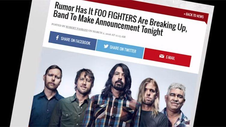 Non, les Foo Fighters ne se séparent pas !  (Capture d'écran de la vidéo des Foo Fighters)
