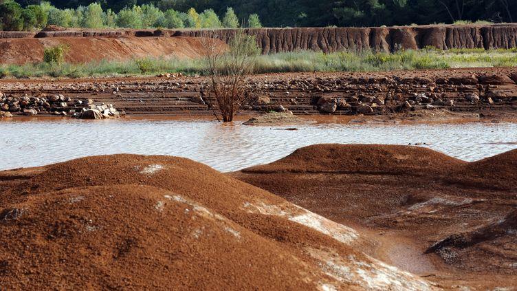 Le site de Mange-Garri, près de Gardannes (Bouches-du-Rhône), le 8 octobre 2010. (ANNE-CHRISTINE POUJOULAT / AFP)