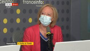 Sophie Cluzel, secrétaire d'Etat chargée des Personnes handicapées, le 7 mai sur franceinfo. (FRANCEINFO / RADIOFRANCE)