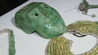 Masque de jade maya  (Pinacothèque de Paris)