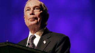 L'ancien maire de New York Michael Bloomberg s'exprime dans un centre culturel chrétien à Brooklyn, le 17 novembre 2019. (YANA PASKOVA / AFP)