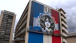 """""""Liberté, Egalité, Fraternité"""", la Marianne républicaine revisitée par Sherpard Fairly dans le 13e arrondissement de Paris  (France 3 Culturebox)"""