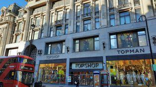 Le magasin Topshop d'Oxford Circus à Londres, le 9 février 2021. (RICHARD PLACE / RADIO FRANCE)