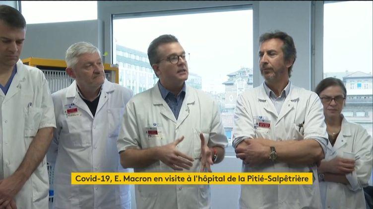 Alain Combes, chef du service réanimation de la Pitié Salpêtrière, le 27 février 2020 (capture écran). (FRANCEINFO / RADIOFRANCE)
