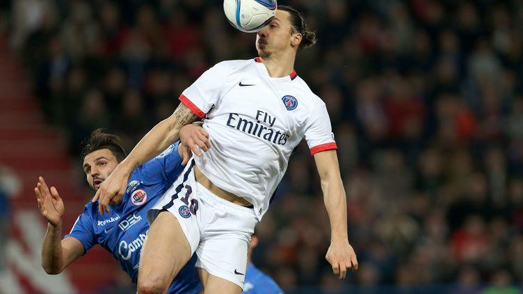 L'attaquant du PSG Zlatan Ibrahimovic lors du match face à Caen, le 19 décembre 2015. (CHARLY TRIBALLEAU / AFP)