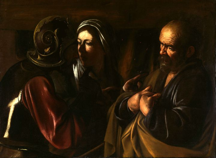 """Le Caravage """"Le reniement de Saint Pierre"""", ca 1610, Metropolitan Museum New York, gift of Herman and Lila Shickman and purchase, Lila Acheson Wallace Gift, 1997  (CC0)"""