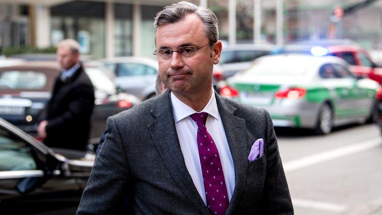 Le ministre des Transports autrichienNorbert Hofer (FPO), à Munich (Allemagne), le 5 février 2018. (SVEN HOPPE / DPA)