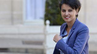 La ministre de l'Education nationale, Najat Vallaud-Belkacem, le 30 avril 2015. (MIGUEL MEDINA / AFP)