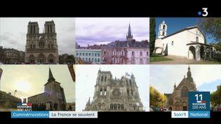 Toute la France a commémoré le centenaire de l'armistice de la guerre de 14-18 (France 3)